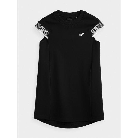 Dívčí šaty 4F J4L20-JSUDD201 DEEP BLACK