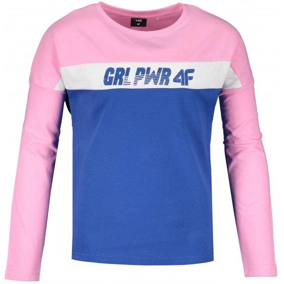 Dívčí triko s dlouhým rukávem 4F J4L20-JTSDL201 PINK