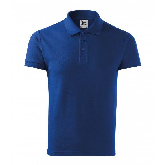 Pánské triko s límečkem MALFINI COTTON 212 KRÁLOVSKÁ MODRÁ