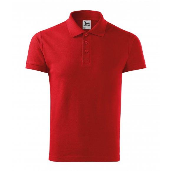 Pánské triko s límečkem MALFINI COTTON 212 ČERVENÁ