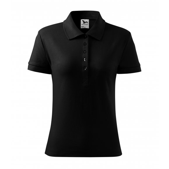 Dámské triko s límečkem MALFINI HEAVY 216 ČERNÁ