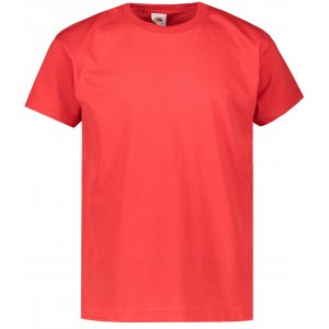 Dětské triko FRUIT OF THE LOOM ORIGINAL T-SHIRT RED