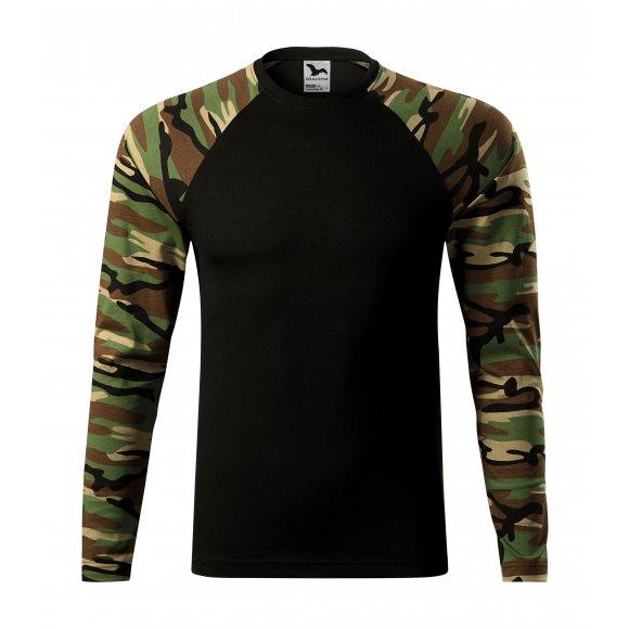 Pánské triko s dlouhým rukávem MALFINI CAMOUFLAGE LS 166 CAMOUFLAGE BROWN