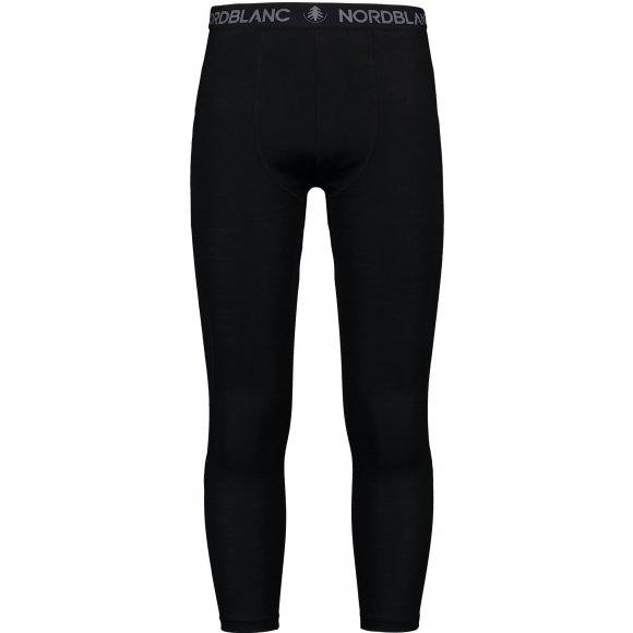 Pánské termo kalhoty MERINO NORDBLANC NBWFM6871 CRYSTAL ČERNÁ