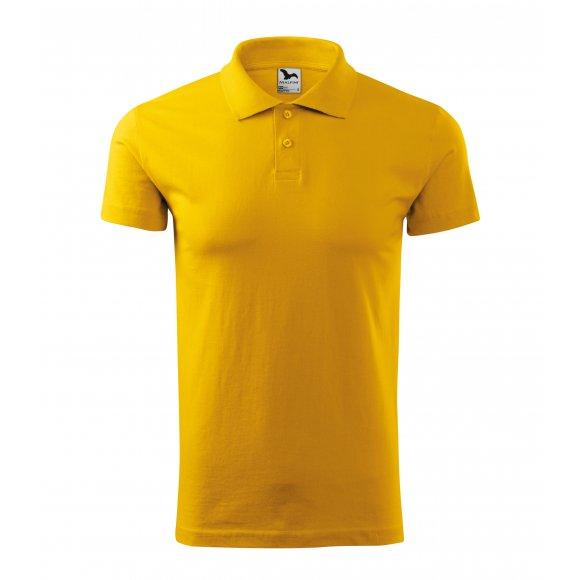 Pánské triko s límečkem MALFINI SINGLE J. 202 ŽLUTÁ