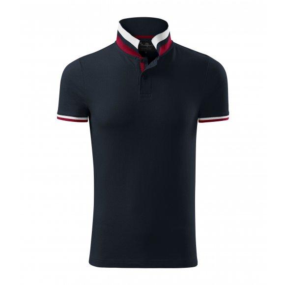 Pánské triko s límečkem MALFINI PREMIUM COLLAR UP 256 DARK NAVY