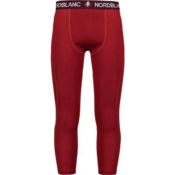 Pánské termo kalhoty MERINO NORDBLANC NBWFM6871 RUSTIKÁLNÍ ORANŽOVÁ