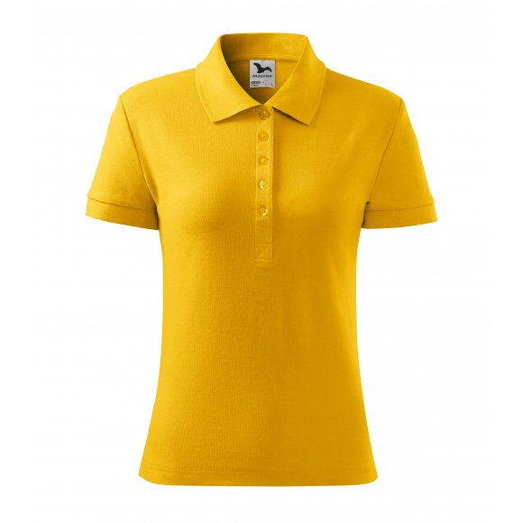 Dámské triko s límečkem MALFINI COTTON 213 ŽLUTÁ