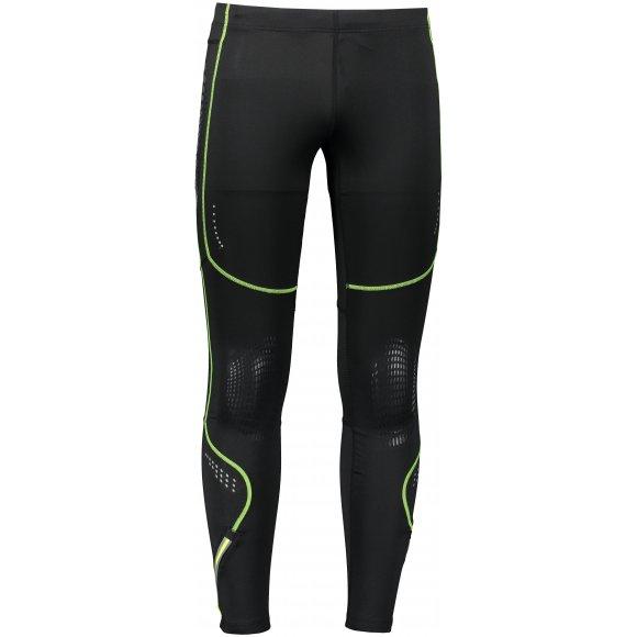 Pánské elastické kalhoty VIKING NIXON ČERNÁ/ZELENÁ