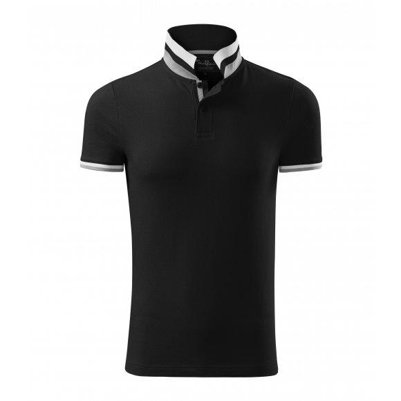 Pánské triko s límečkem MALFINI PREMIUM COLLAR UP 256 ČERNÁ