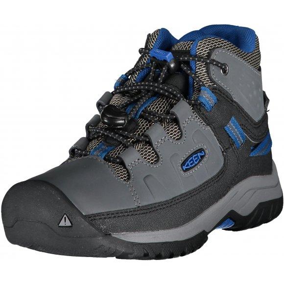 Dětské kotníkové boty KEEN TARGHEE MID WP Y STEEL GREY/BALEINE BLUE