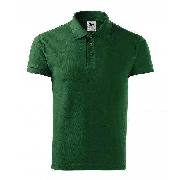 Pánské triko s límečkem MALFINI COTTON 212 LAHVOVĚ ZELENÁ