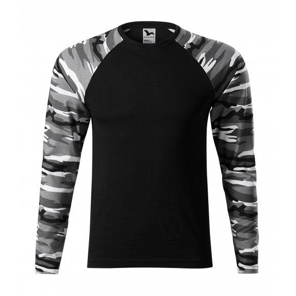 Pánské triko s dlouhým rukávem MALFINI CAMOUFLAGE LS 166 CAMOUFLAGE GRAY
