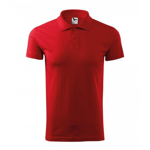 Pánské triko s límečkem MALFINI SINGLE J. 202 ČERVENÁ
