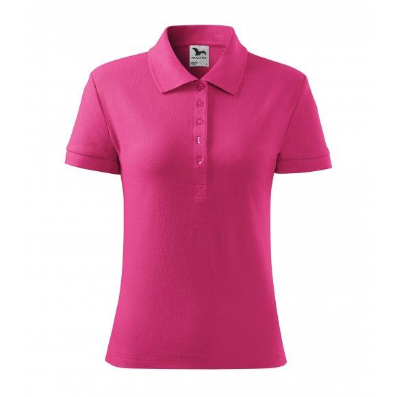 Dámské triko s límečkem MALFINI COTTON 213 PURPUROVÁ