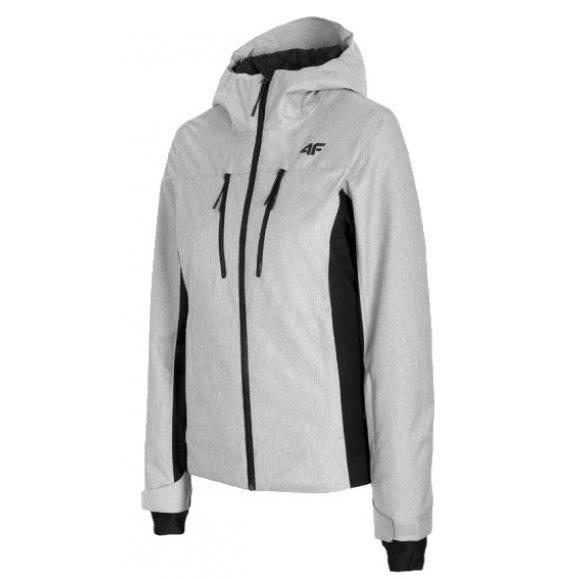 Dámská lyžařská bunda 4F D4Z20-KUDN251 COLD LIGHT GREY MELANGE