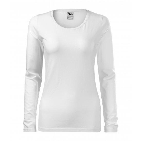 Dámské triko s dlouhým rukávem MALFINI SLIM 139 BÍLÁ