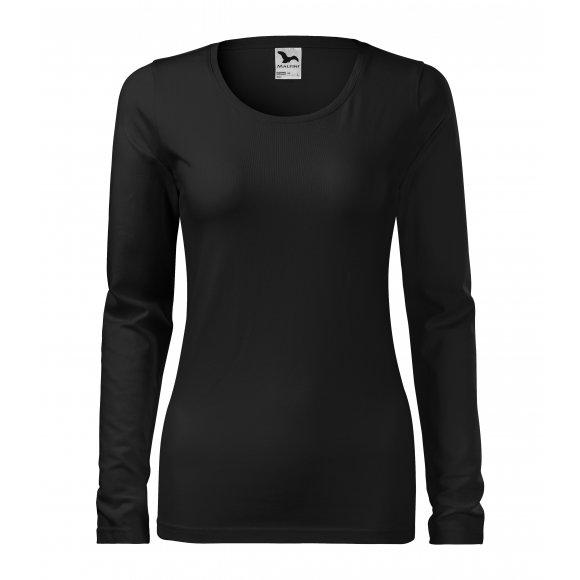 Dámské triko s dlouhým rukávem MALFINI SLIM 139 ČERNÁ