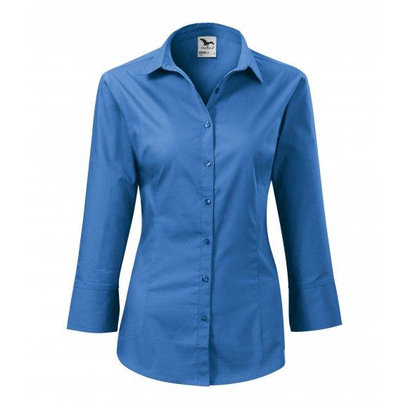 Dámská košile s 3/4 rukávem MALFINI STYLE 218 NEBESKY MODRÁ