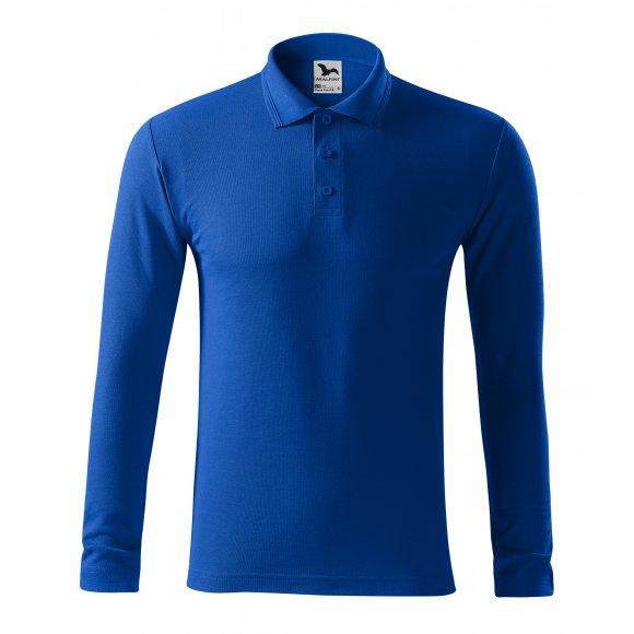 Pánské triko s dlouhým rukávem a límečkem MALFINI PIQUE POLO LS 221 KRÁLOVSKÁ MODRÁ