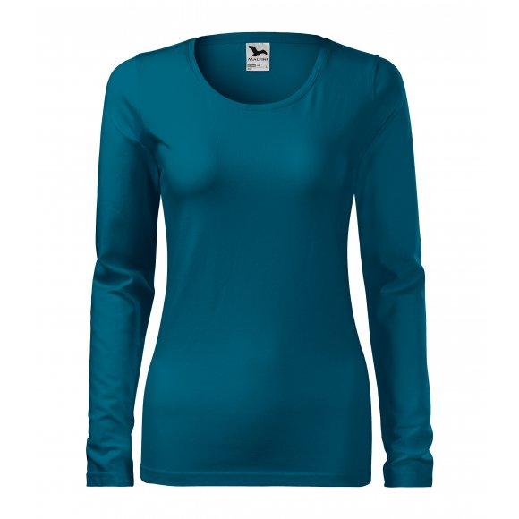 Dámské triko s dlouhým rukávem MALFINI SLIM 139 PETROLEJOVÁ