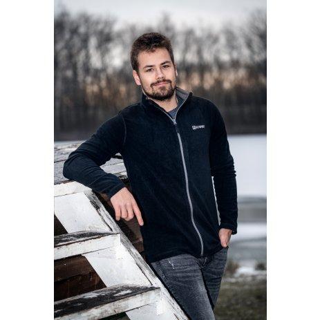 Pánská fleecová mikina ALTISPORT MARGH MSWS268 ČERNÁ