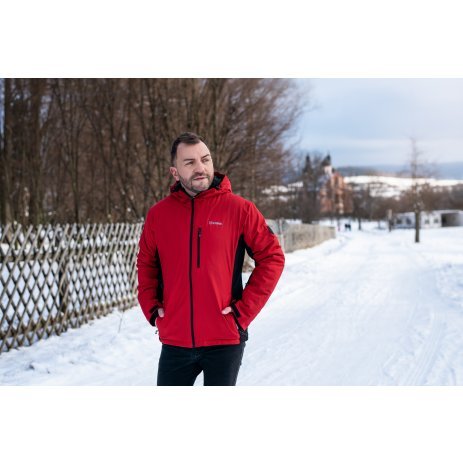 Pánská zimní bunda ALTISPORT LENIS MJCS467 ČERVENÁ
