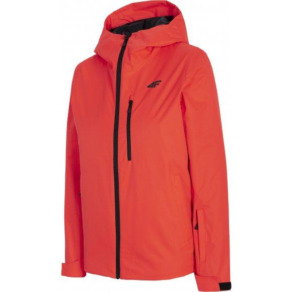 Dámská lyžařská bunda 4F D4Z20-KUDN301 RED NEON