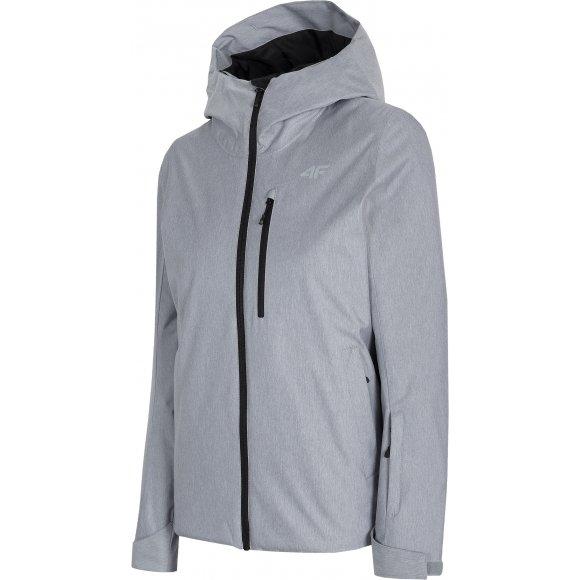 Dámská lyžařská bunda 4F D4Z20-KUDN301 COLD LIGHT GREY MELANGE