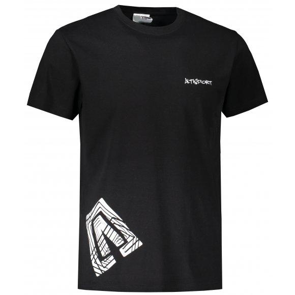 Pánské triko ALTISPORT ALM013129 ČERNOBÍLÁ