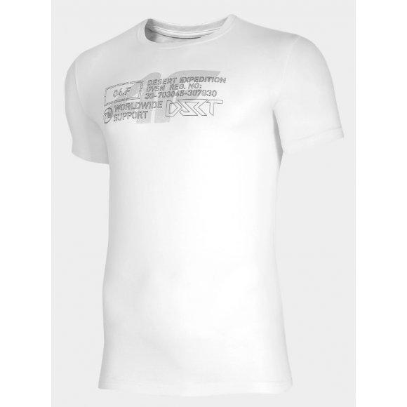 Pánské triko 4F D4Z20-TSM214 OFF WHITE