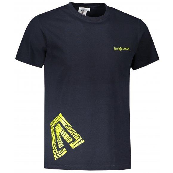Pánské triko ALTISPORT ALM013129 NÁMOŘNÍ MODRÁ