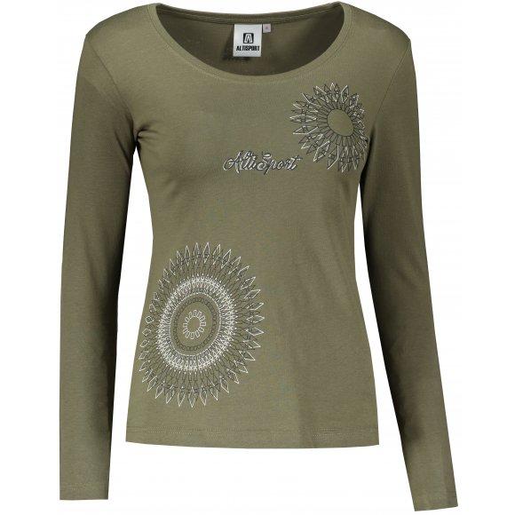 Dámské triko s dlouhým rukávem ALTISPORT ALW024169 KHAKI