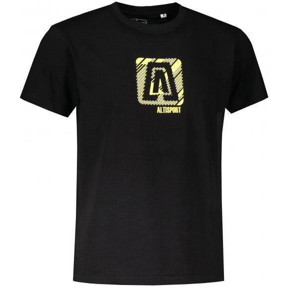 Pánské triko ALTISPORT ALM023F29 ČERNOŽLUTÁ