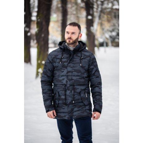 Pánská zimní bunda KIXMI KOLBY ČERNÁ