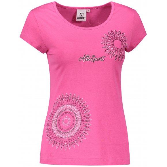 Dámské triko ALTISPORT ALW024122 PURPUROVÁ