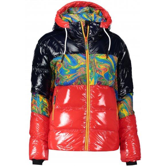 Dámská péřová bunda ICEPEAK CHICAGO ČERVENÁ