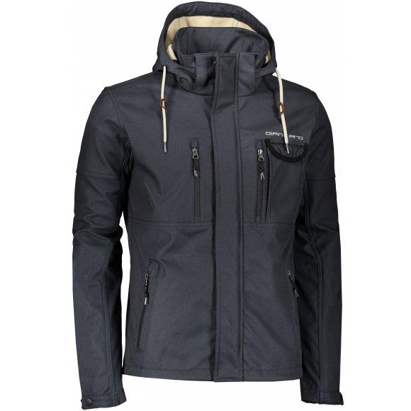 Pánská softshellová bunda ALPINE PRO ARIN MJCS471 TMAVĚ MODRÁ