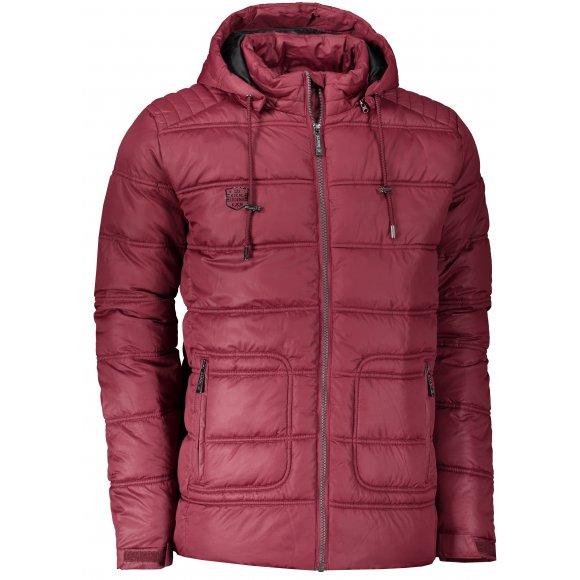 Pánská zimní bunda KIXMI KENAN BURGUNDY