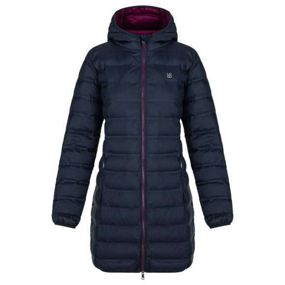 Dámský kabát LOAP ITASIA CLW20122 TMAVĚ MODRÁ