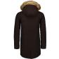 Pánský kabát NORDBLANC NBWJM6920 TMAVĚ HNĚDÁ