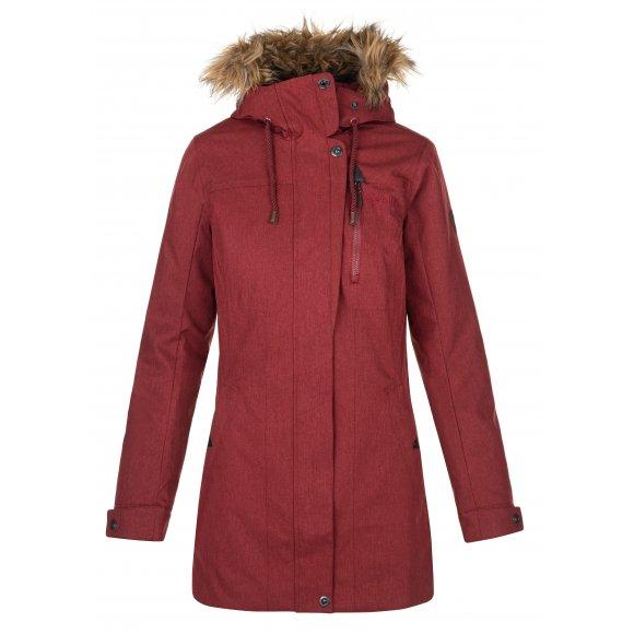 Dámský zimní kabát KILPI PERU-W NLX072KI TMAVĚ ČERVENÁ
