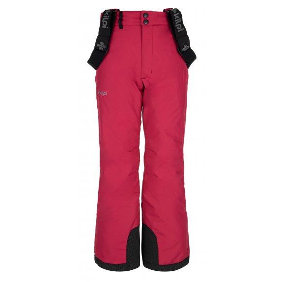 Dívčí lyžařské kalhoty KILPI ELARE-JG NJ0031KI RŮŽOVÁ