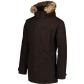 Pánský kabát NORDBLANC NBWJM6919 TMAVĚ HNĚDÁ