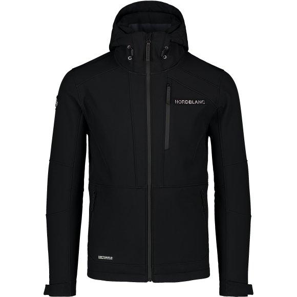 Pánská lyžařská softshellová bunda NORDBLANC STRUGGLE NBWSM7322 ČERNÁ