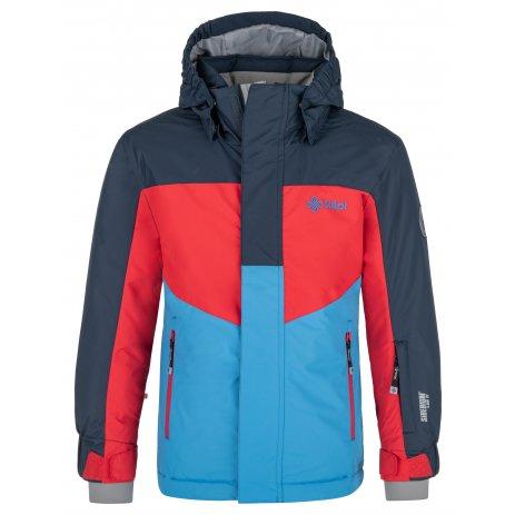 Chlapecká lyžařská bunda KILPI OBER-JB NJ0002KI TMAVĚ MODRÁ