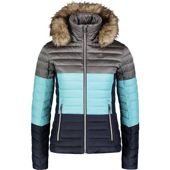 Dámská zimní bunda NORDBLANC BAR NBWJL6934 ŠEDÁ/MODRÁ
