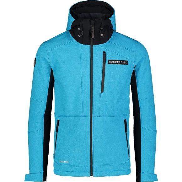 Pánská lyžařská softshellová bunda NORDBLANC STRUGGLE NBWSM7322 KRÁLOVSKY MODRÁ