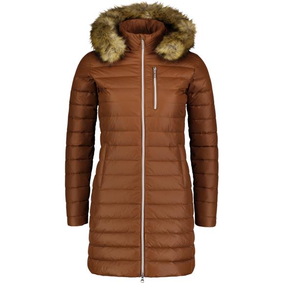Dámský péřový kabát NORDBLANC NBWJL6940 SKOŘICOVĚ HNĚDÁ