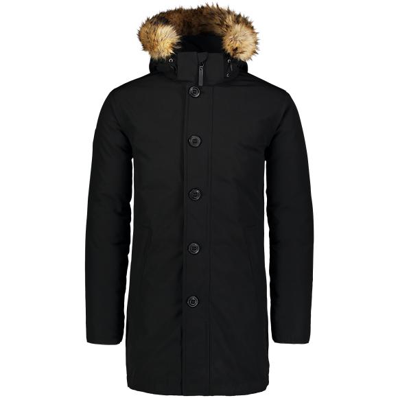 Pánský kabát NORDBLANC NBWJM6920 CRYSTAL ČERNÁ